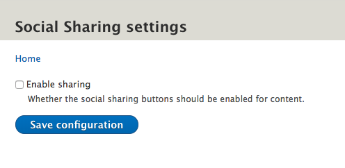 enable or disable social sharing
